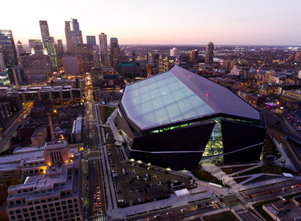 photo of U.S. bank stadium in minneapolis, minnesota